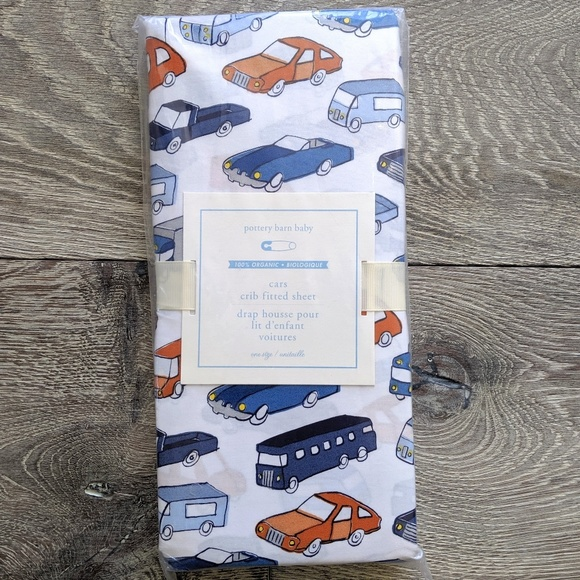 Nwt Pottery Barn Baby Cars Crib Fitted Sheet Nwt